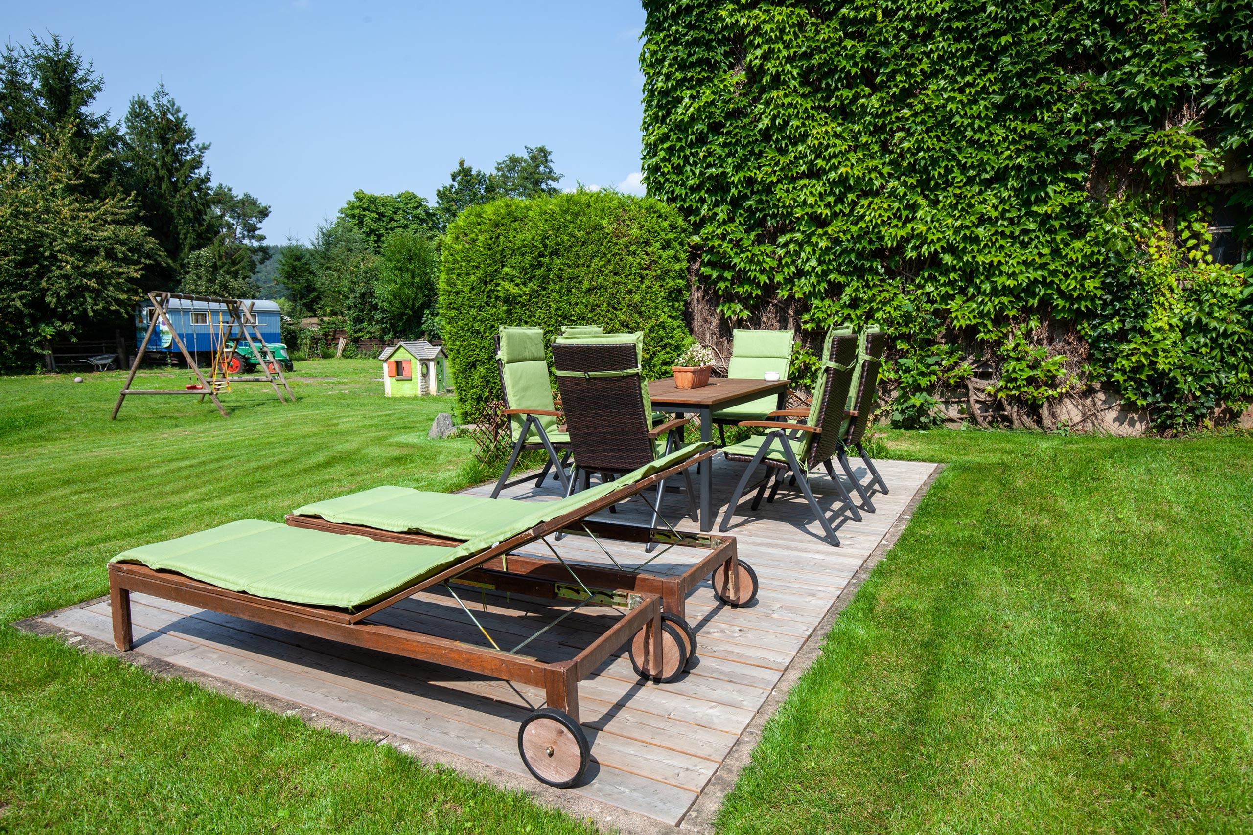 Ferienwohnung in Wächtersbach mit Garten