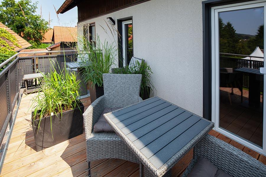 Ferienwohnung Rhön Balkon