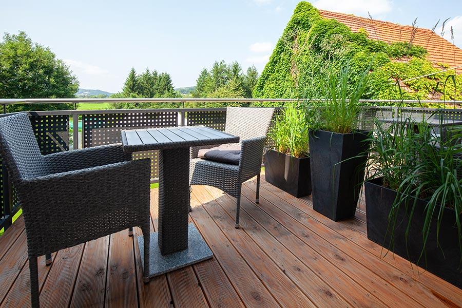 Ferienwohnung Vogelsberg Balkon